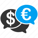chat, comment, communication, euro, european, forum, talk icon