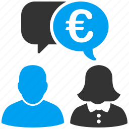 chat, comment, communication, connection, euro, european, talk icon