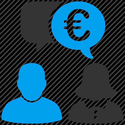 chat, comment, communication, connection, euro, european, talk icon