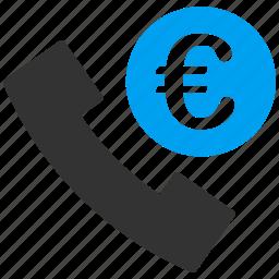 call, euro, european, online, order, phone, service icon