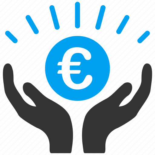 euro, european, light, power, prosperity, rich, success icon