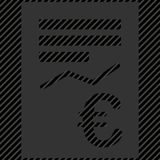 document, euro, european, graph, report, sheet, statistics icon