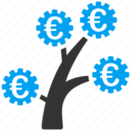 business, money tree, plant, production, project, structure, technology icon