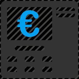 atm, bank, euro, european, pay cash, transaction, withdraw icon