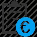 euro, european, checklist, form, items, task list, test