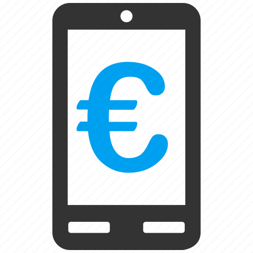 account, communicator, euro, european, mobile terminal, payment, phone icon