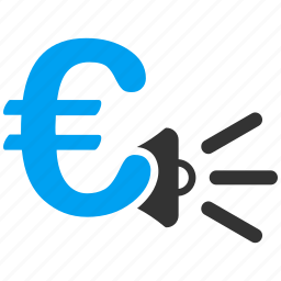 advertisement, advertising, euro, european, marketing, news, promotion icon