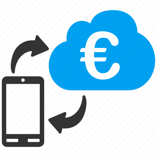 cloud banking, euro, european, finance, financial, money, payment icon