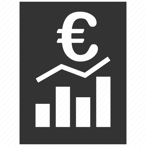 bar chart, document, euro, european, report, sheet, statistics icon