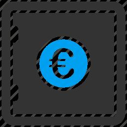 deposit, euro, european, locked money, protection, safe, secure icon