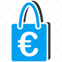 basket, euro, european, package, retail, sale, shopping bag icon