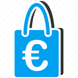 basket, euro, european, package, retail, sale, shopping bag icon