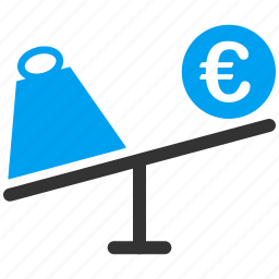 commerce, commercial, euro, market, scales, trade, trading icon