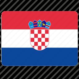 country, croatia, european, flag, national icon