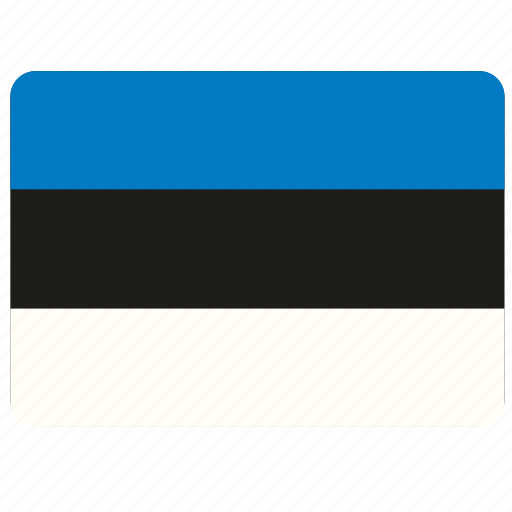 country, estonia, european, flag, national icon