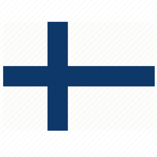 country, european, finland, flag, national icon