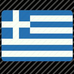 country, european, flag, greece, national icon