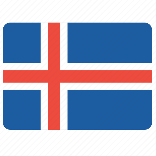 country, european, flag, iceland, national icon
