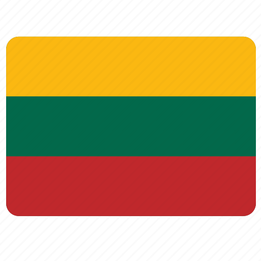 country, european, flag, lithuania, national icon