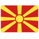 flag, country, european, macedonia, national