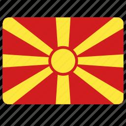 country, european, flag, macedonia, national icon