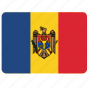 country, european, flag, moldova, national icon