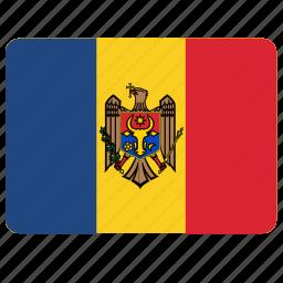 country, european, flag, moldova, national icon