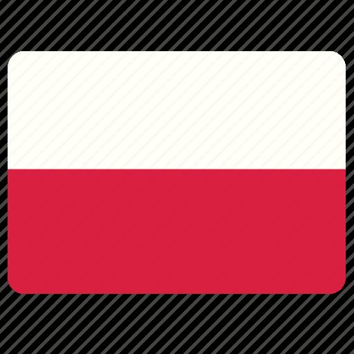 country, european, flag, national, poland icon