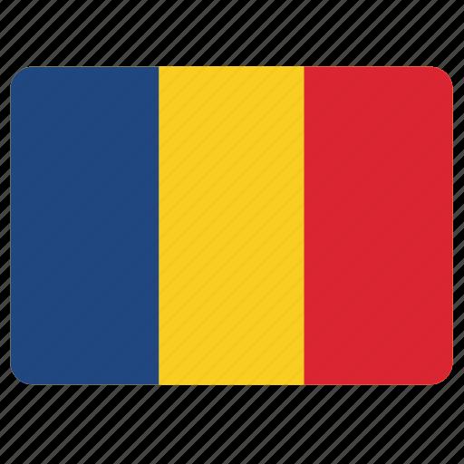 country, european, flag, national, romania icon