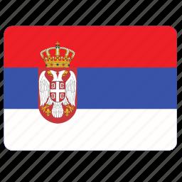 country, european, flag, national, serbia icon