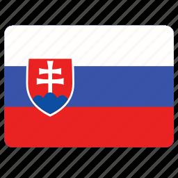 country, european, flag, national, slovakia icon