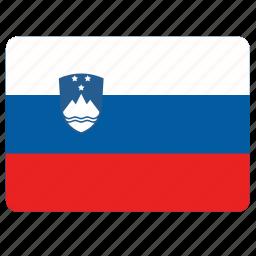 country, european, flag, national, slovenia icon