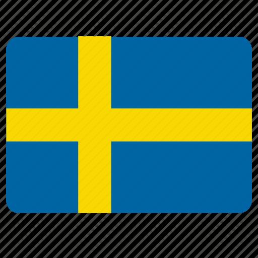 country, european, flag, national, sweden icon