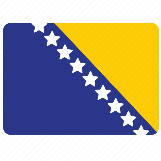 bosnia and herzegovina, country, european, flag, national icon