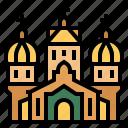 almaty, european, kazakhstan, landmark, ascension cathedral