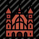 european, landmark, lithuania, vilnius, saint anne and saint francis icon