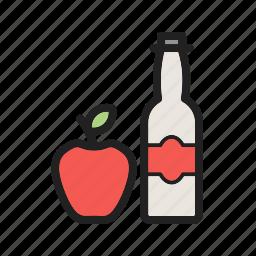 apple, cider, food, fresh, healthy, organic, vinegar icon