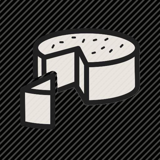 cheese, food, fresh, goat, gourmet, healthy, organic icon