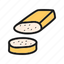 cheese, cuisine, european, food, hand, italian, mozzarella icon