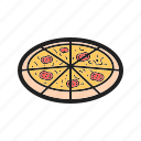 cheese, dinner, food, homemade, meal, mozzarella, pizza icon