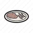 chop, cutlet, dinner, food, gourmet, meal, veal icon