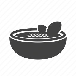 bowl, bread, food, gazpacho, healthy, red, soup icon