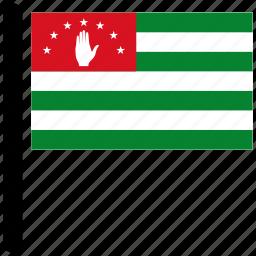 abkhazia, country, flag, flags, world icon