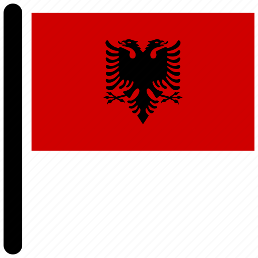 albania, country, flag, flags, national icon