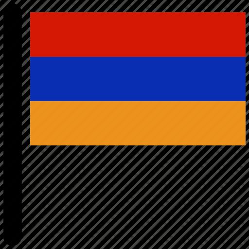 almenia, country, flag, national, world icon