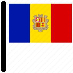 american, andorra, flag, flags, national icon