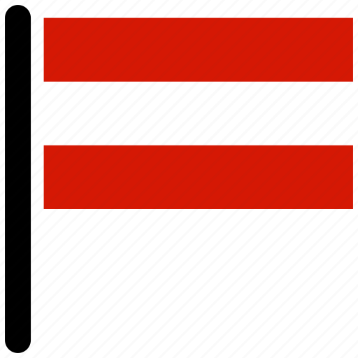 austrian, country, flag, flags, national icon