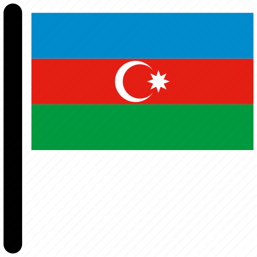 azerbaijan, country, flag, flags, national icon