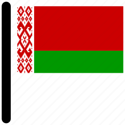 belarus, country, flag, flags, national icon
