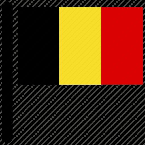 belgium, country, flag, flags, rectangular, world icon